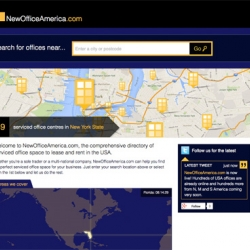 NewOfficeAmerica.com launches.  The one-stop-shop for serviced office space in the USA.. Click for details.