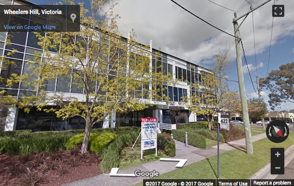Street View image of 2 Brandon Park Drive, Melbourne - Next to Monash Freeway