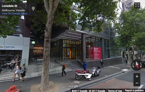Street View image of Level 10, 555 Lonsdale Street, Melbourne, Victoria, Australia