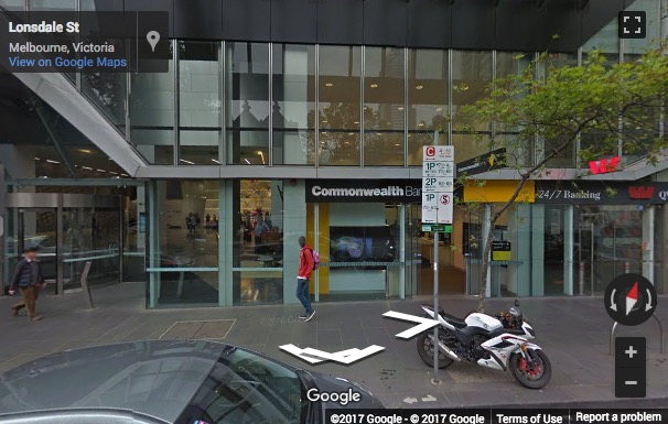 Street View image of Level 19, 180 Lonsdale Street, Melbourne, Victoria, Australia