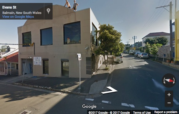 Street View image of 45 Evans Street, Balmain, Sydney, New South Wales, Australia