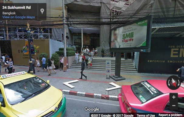 Street View image of Bhiraj Tower, 647 Sukhumvit Road, North Klongton, Vadhana, Bangkok