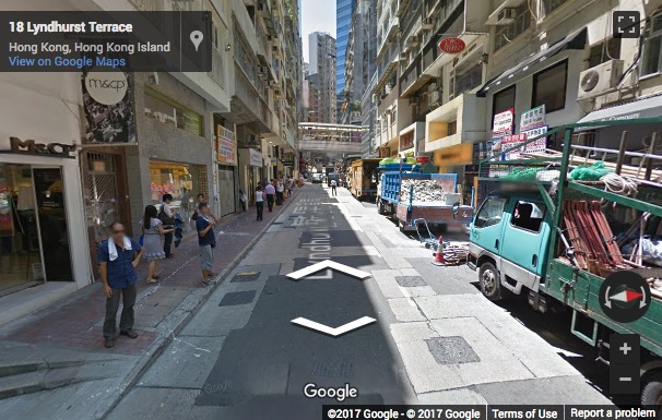 Street View image of 1601-1602 Car Po Commercial Building, 18-20 Lyndhurst Terrace, Central, Hong Kong