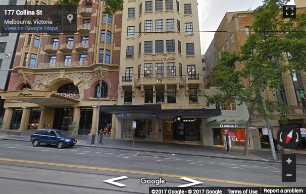 Street View image of Level 5, 171 Collins Street, Melbourne, Victoria, Australia