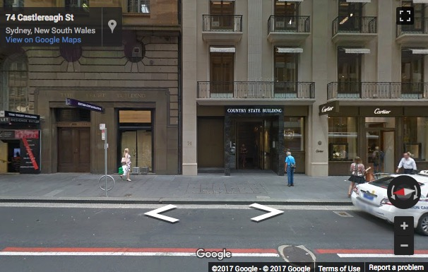 Street View image of 74 Castlereagh Street, Sydney, New South Wales, Australia