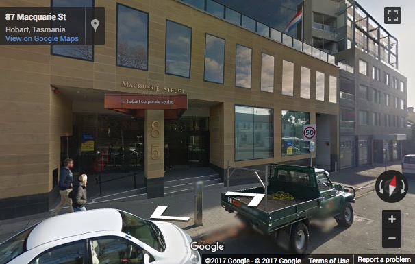 Street View image of Ground Floor, 85 Macquarie Street, Hobart, Tasmania, Australia