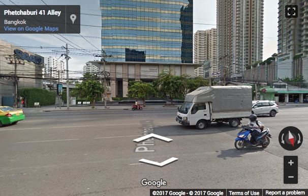 Street View image of 19th Floor, Thanapoom Tower, 1550 New Petchburi Rd., Makkasan, Ratthawi, Bangkok