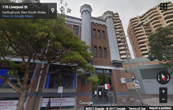 Street View image of 223 Liverpool Street, Sydney, New South Wales
