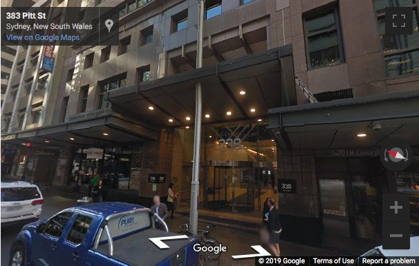 Street View image of 338 Pitt Street, Sydney, New South Wales