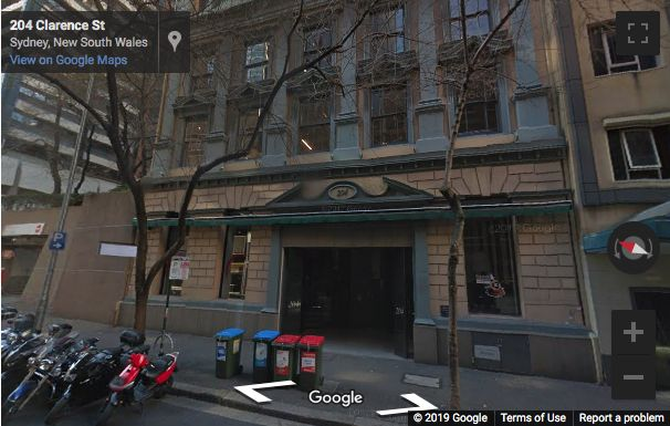 Street View image of 204 Clarence Street, Sydney, New South Wales