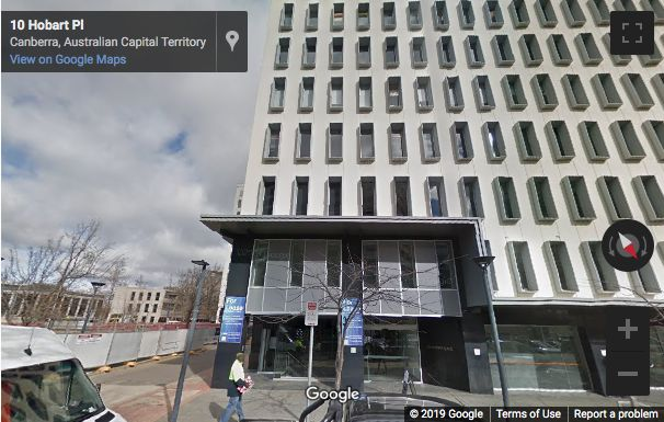 Street View image of 10 Hobart Place Suite 1, Canberra, Australian Capital Territory