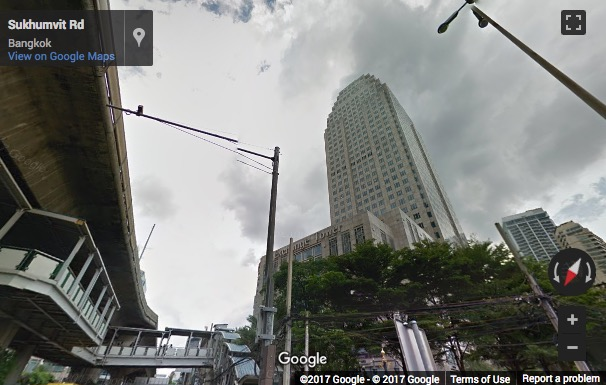Street View image of Exchange Tower, Sukhumvit Road, Klongtoey Subdistrict, Bangkok, Thailand