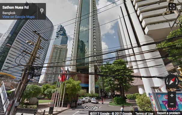 Street View image of Sathorn Thani Building, Sathorn Road, Silom, Bangrak, Bangkok, Thailand